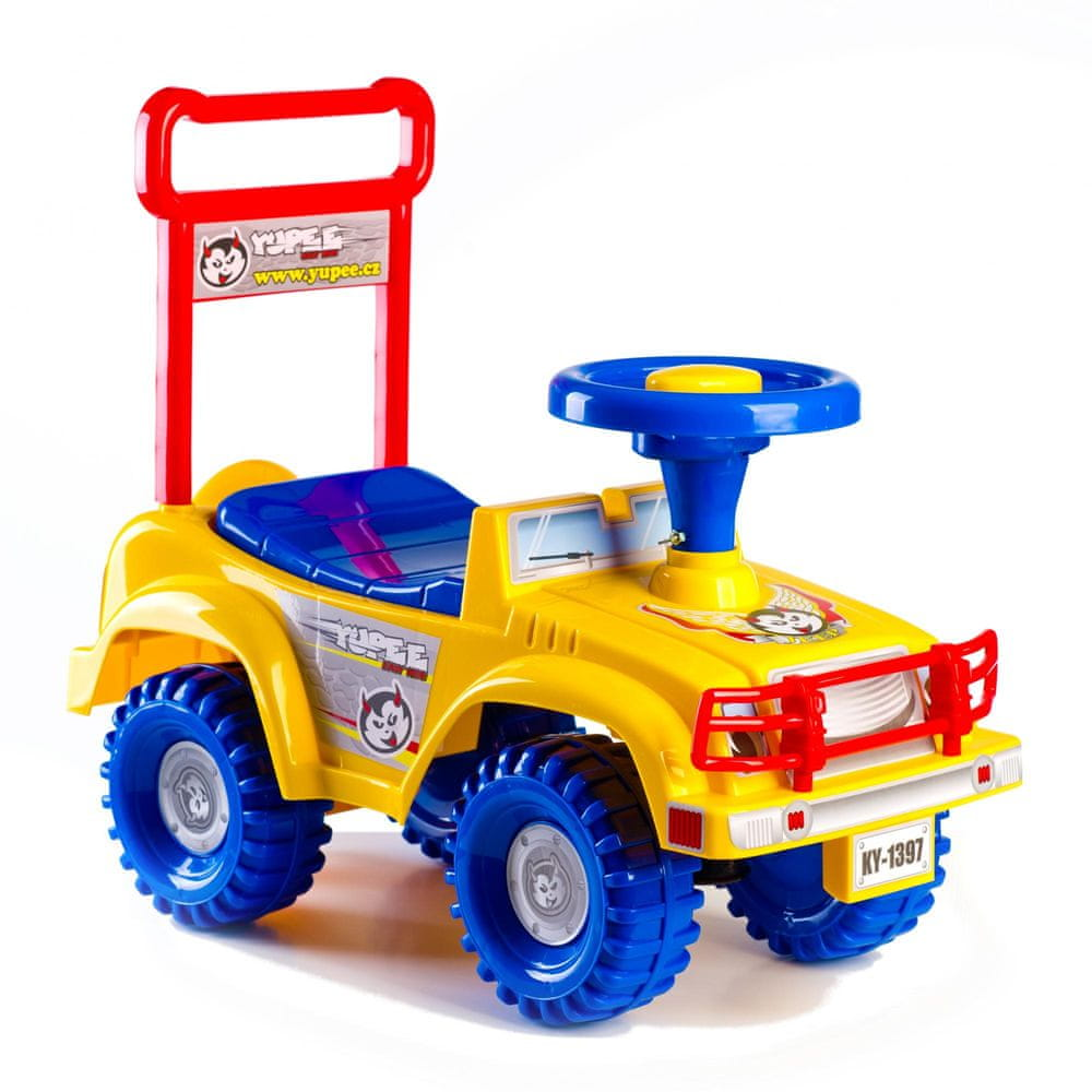 Yupee Odrážedlo auto Jeep žluté
