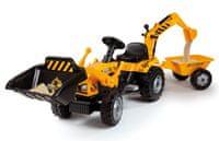 Smoby Šliapací traktor MAX s bagrom a vozíkom