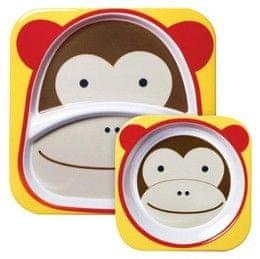Skip hop ZOO Jídelní set miska talířek 2v1, opička