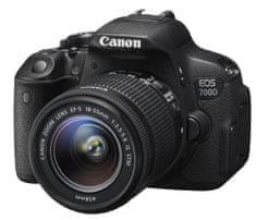 Canon fotoaparat EOS 700D + EF-S 18-55 mm IS STM