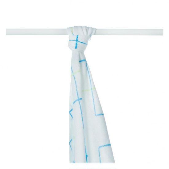 XKKO Ręcznik / pielucha bambusowa 90x100 z kolorowym wzorem