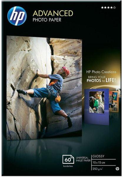 HP fotopapír Glossy Advanced, Q8008A, 10x15 cm, 60 ks