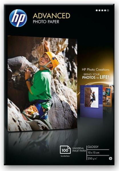 HP fotopapír Glossy Advanced, Q8692A, 10x15 cm, 100 ks