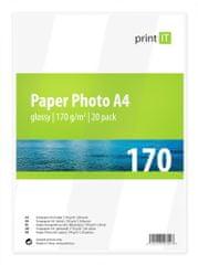 Print IT fotopapír A4, 170g/m2, 20 listů, lesklý (PI-83)