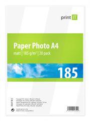 Print IT fotopapír A4, 185g/m2, 20 listů, matný (PI-84)