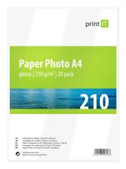 Print IT fotopapír A4, 210g/m2, 20 listů, lesklý (PI-85)