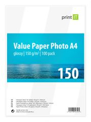 Print IT Value fotopapír A4, 150g/m2, 100 listů, lesklý