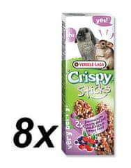 Versele-Laga Tyčinky Crispy s lesním ovocem pro králíky a činčily 8 x 110g