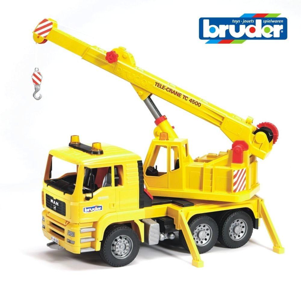 Bruder Nákladní auto MAN - Stavební jeřáb