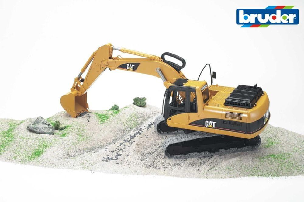 Bruder Konstrukční vozy - CAT Excavator 1:18