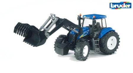 Bruder traktor New Holland z nakladalko, 35 cm