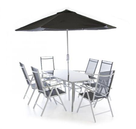 V-Garden meble ogrodowe VeGAS 6 z parasolem