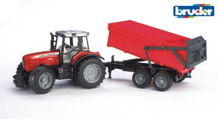 Bruder traktor s prikolico, 67 cm, 02045