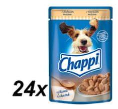Chappi mokra hrana za pse, perutnina, 24 x 100 g