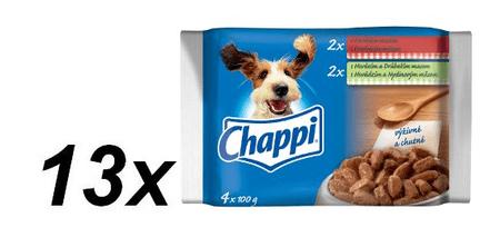 Chappi saszetki dla psa- z wołowiną/z wołowiną i drobiem- multipack 13 x ( 4 x 100g )