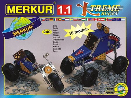 Merkur Modele RC Kit, 1,1 10 modeli 240 el.