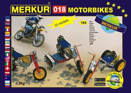Merkur Stavebnice 018 Motocykly 10 modelů 182ks