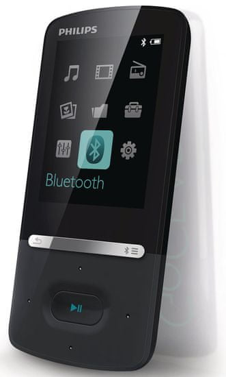 Philips GoGear Azure SA5AZU08KF / 8GB Black