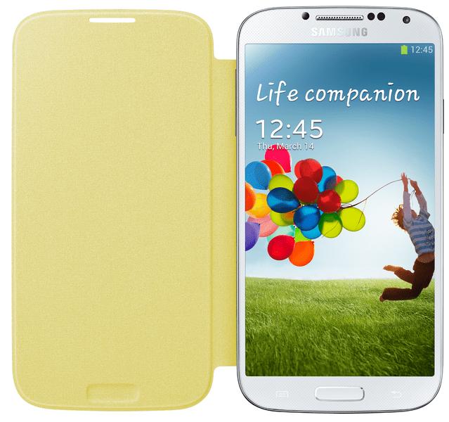 Samsung Flip EF-FI950BY Galaxy S4, žluté