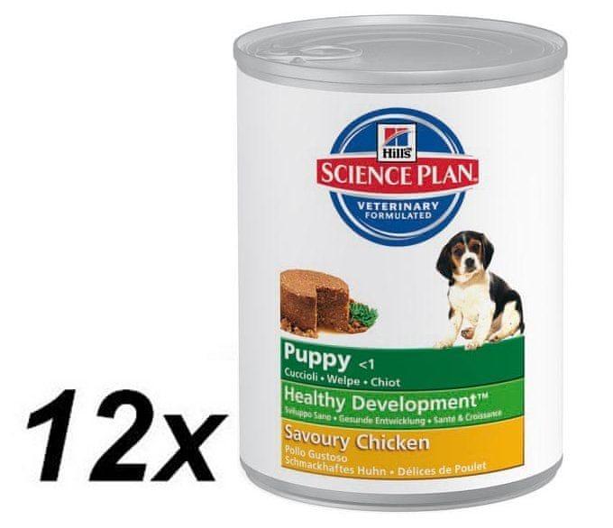 Hill's Canine Puppy Chicken konzerva 12 x 370 g
