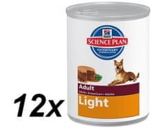 Hill's mokra hrana za odrasle pse Canine Light, piščanec, 12 x 370 g