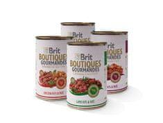 Brit mokra hrana za pse Butiques Gourmandes Mix sa umakom, 12 x 400 g