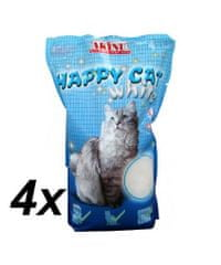 Akinu peleti Happy Cat 4 x 3,6 L, bijeli