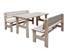 Happy Green Pivný set (stôl + 2 lavice)