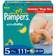Pampers Active Baby Pieluchy, rozmiar 5 Junior, 111 sztuk
