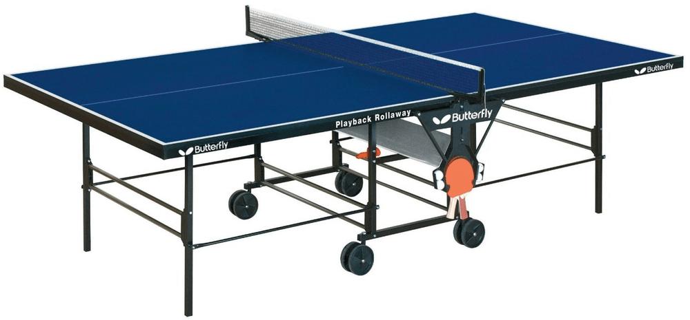 Butterfly pingpongový stůl Playback Rollaway modrá