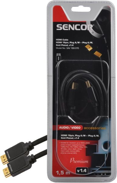 Sencor SAV 166-015 (HDMI kabel 1.4)