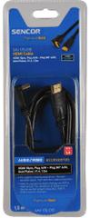 SENCOR SAV 176-015 (HDMI 1.4 kabel - konektor 90°), 1,5 m
