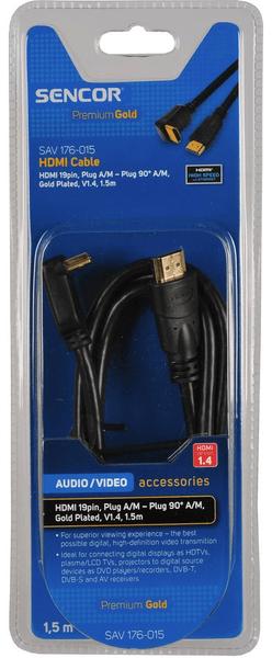 Sencor SAV 176-015 (HDMI 1.4 kabel - konektor 90°)