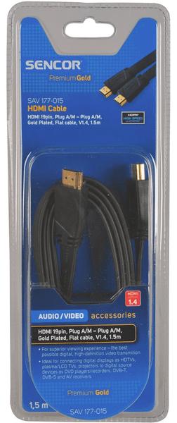 Sencor SAV 177-015 (HDMI 1.4 plochý kabel)