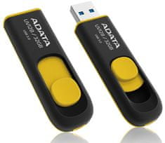 A-Data UV128 32 GB Pendrive, Fekete/Sárga