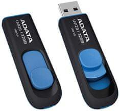 A-Data UV128 Pendrive, 32 GB, Fekete/Kék