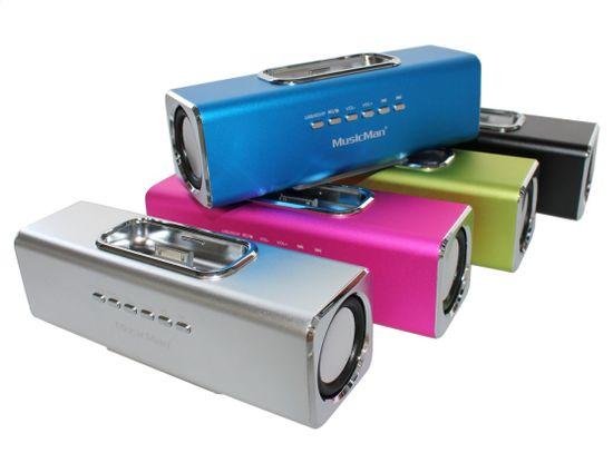 Technaxx MusicMan prenosný stereo reproduktor, modrý - zánovné