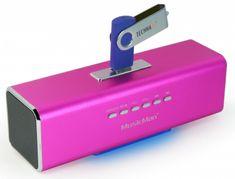 Technaxx MusicMan prenosný stereo reproduktor, ružový