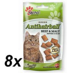 Akinu ANTI-HAIRBALL pre mačky 8 x 50g