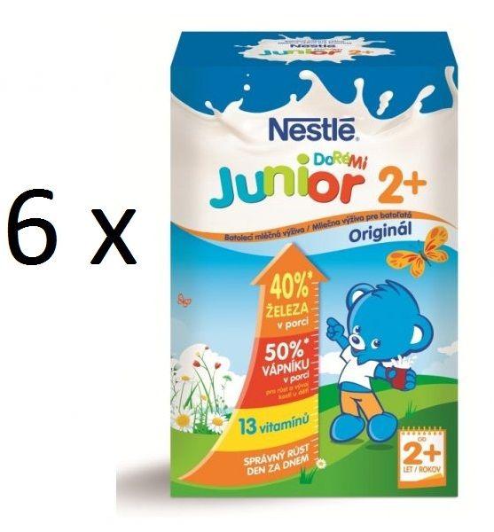 Nestlé mléko Junior Doremi 2+ 700g 5+1 zdarma