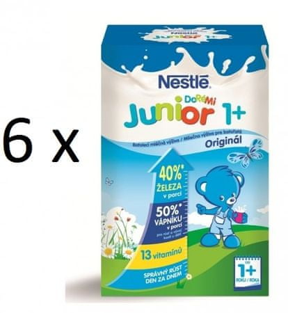 Nestlé mlieko Junior Doremi 1 + 700g 5 +1 zadarmo