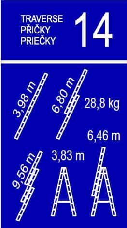 Venbos trodelna lestev Expert 38, 3×14