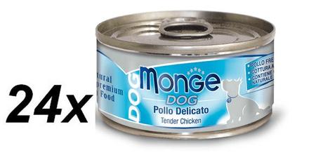 Monge Dog Natural krehké kuracie mäso 24 x 95 g