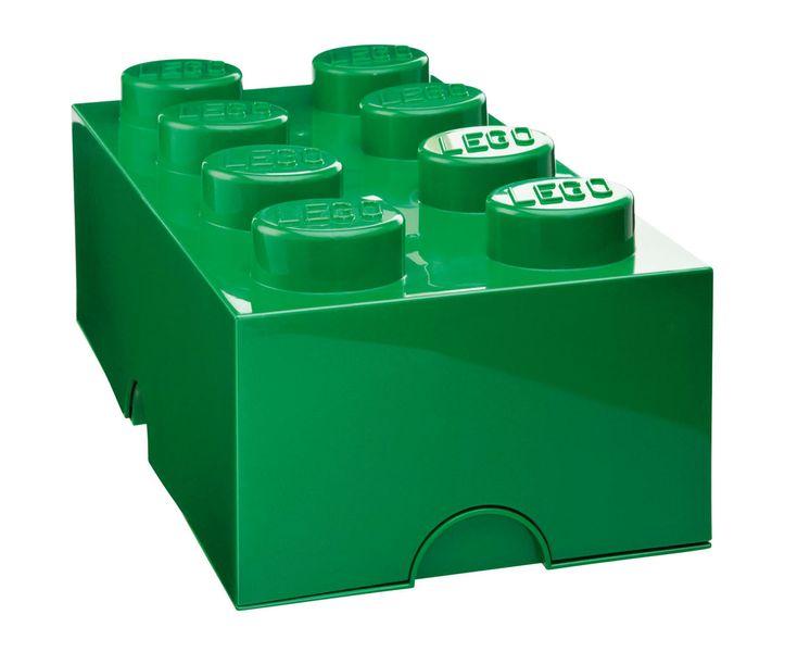 LEGO® Storage box 25x50 cm, tmavě zelená
