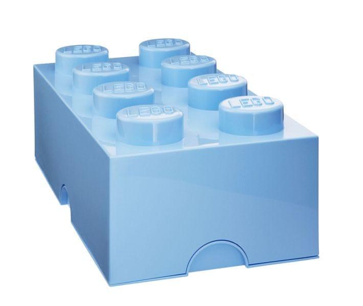 LEGO® Storage box 25x50 cm, světle modrá