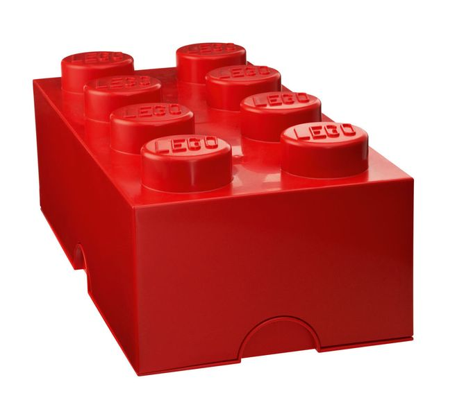 LEGO® Storage box 25x50 cm, červená