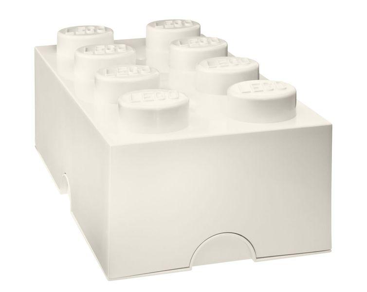 LEGO® Storage box 25x50 cm, bílá