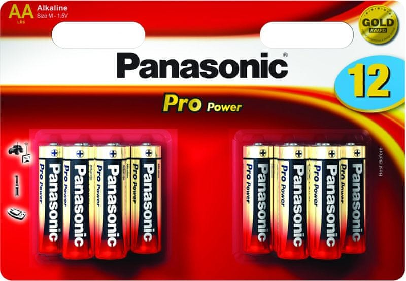 Panasonic AA 12ks Pro Power (LR6PPG/12BW)