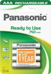 Panasonic polnilna baterija AAA HHR-4MVE, 4 kosi