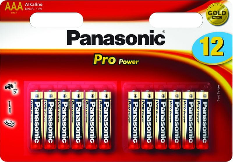 Panasonic AAA 12ks Pro Power (LR03PPG/12BW)
